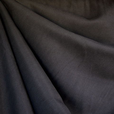 Tencel Twill Shirting Solid Dark Taupe