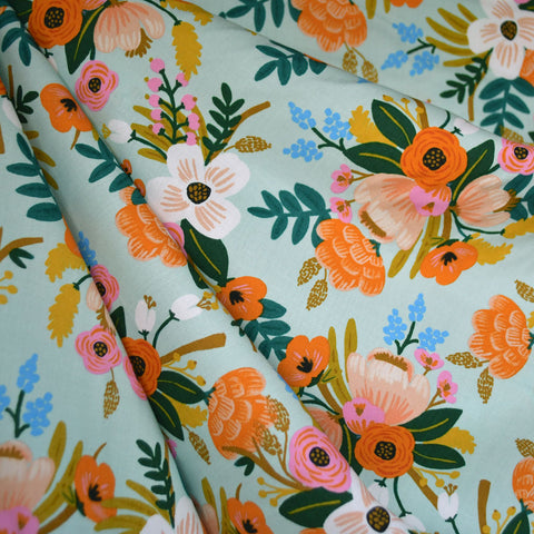 Amalfi Lively Floral Rayon Mint
