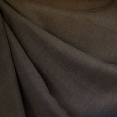 Soft Tencel Twill Solid Chocolate - Fabric - Style Maker Fabrics