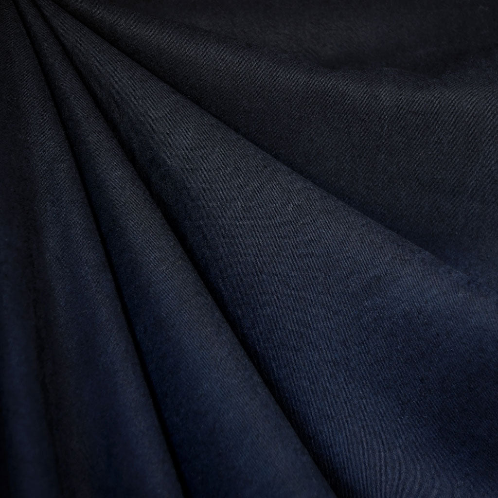 Soft Tencel Twill Solid Navy - Fabric - Style Maker Fabrics