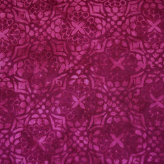 Tonal Mosaic Rayon Batik Raspberry - Sold Out - Style Maker Fabrics