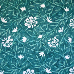 Vine Floral Rayon Batik Teal - Fabric - Style Maker Fabrics