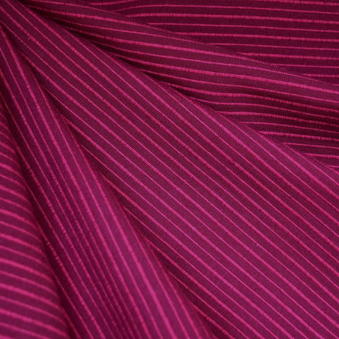 Mariner Cloth Stripe Shirting Berry/Fuchsia