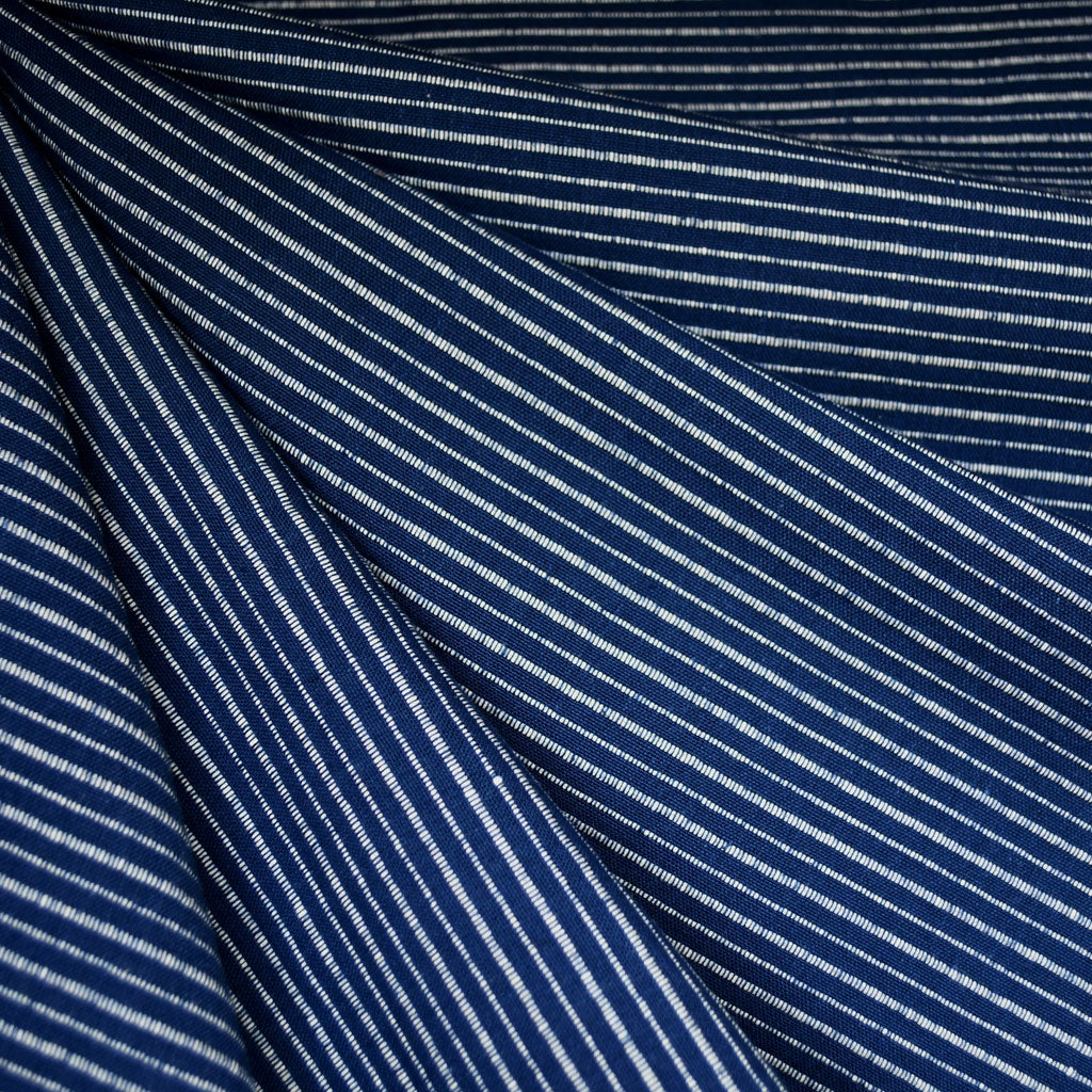 Mariner Cloth Stripe Shirting Navy/White - Fabric - Style Maker Fabrics