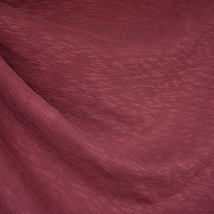 Slub Cotton Sweater Knit Wine - Fabric - Style Maker Fabrics