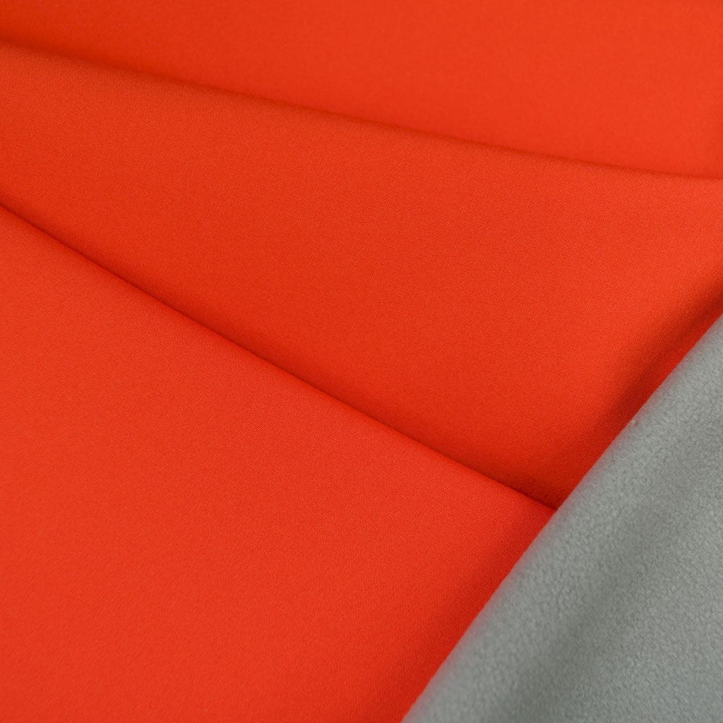 Soft Shell Coating Tangerine/Grey - Fabric - Style Maker Fabrics