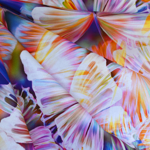 Layered Butterfly Wings Digital Print Cotton Rainbow