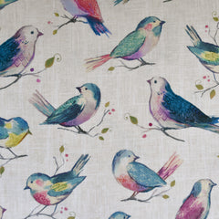 A Twitter Bird Digital Print Cotton Lavender SY - Sold Out - Style Maker Fabrics