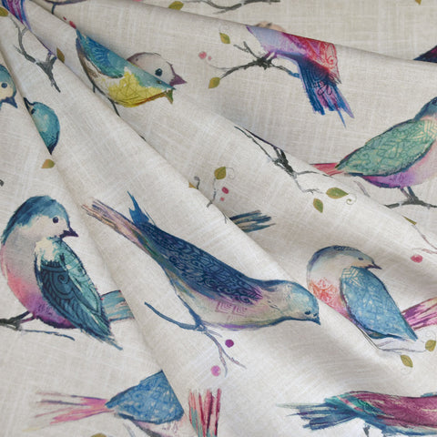 A Twitter Bird Digital Print Cotton Lavender