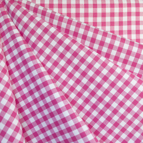 Mini Carolina Gingham Shirting Fuchsia/White SY