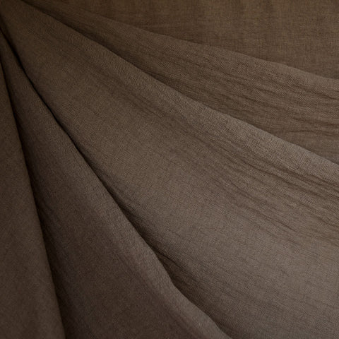 Textured Rayon Blend Shirting Chocolate