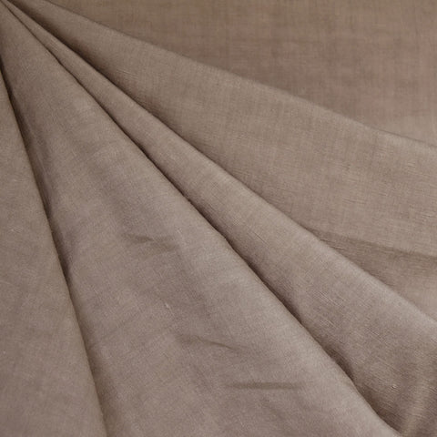 Linen Blend Textured Solid Shirting Taupe