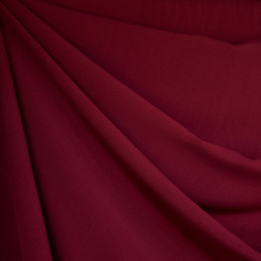 Rayon Batiste Solid Wine - Fabric - Style Maker Fabrics