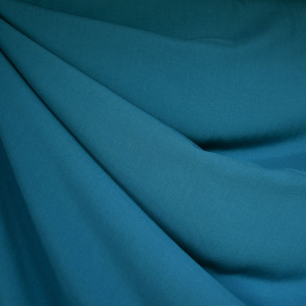 Rayon Batiste Solid Teal - Fabric - Style Maker Fabrics