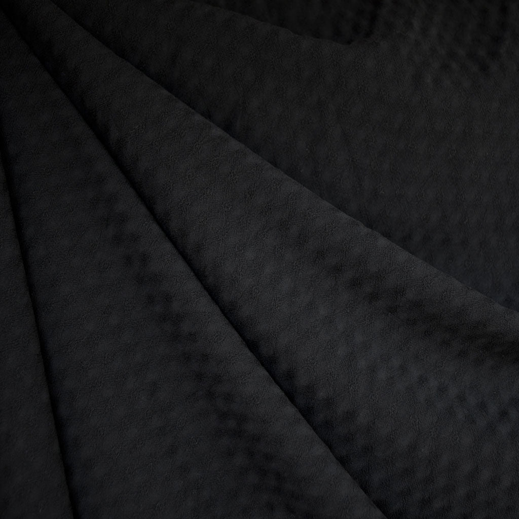Diamond Texture Rayon Shirting Black - Fabric - Style Maker Fabrics