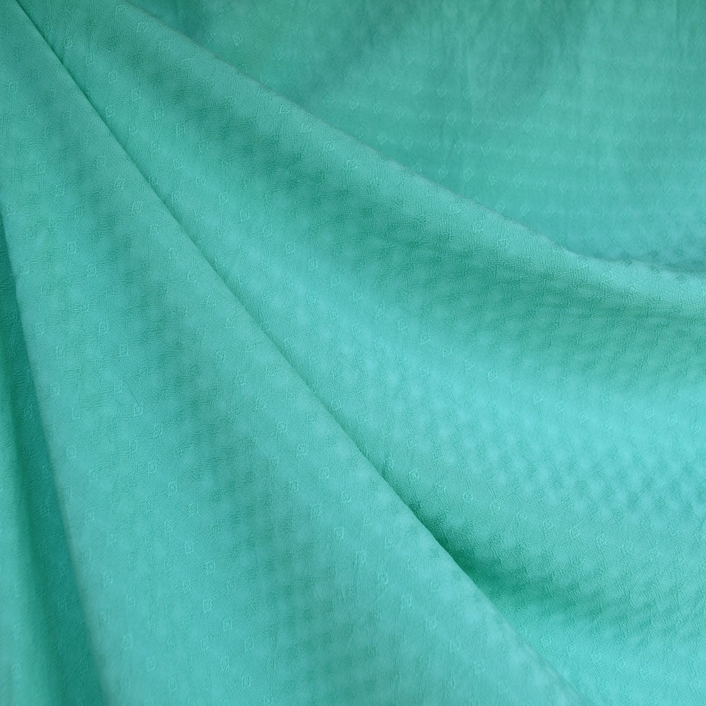 Diamond Texture Rayon Shirting Jade - Sold Out - Style Maker Fabrics
