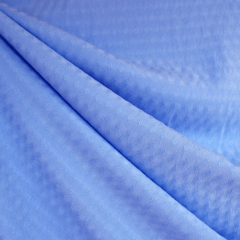 Diamond Texture Rayon Shirting Periwinkle
