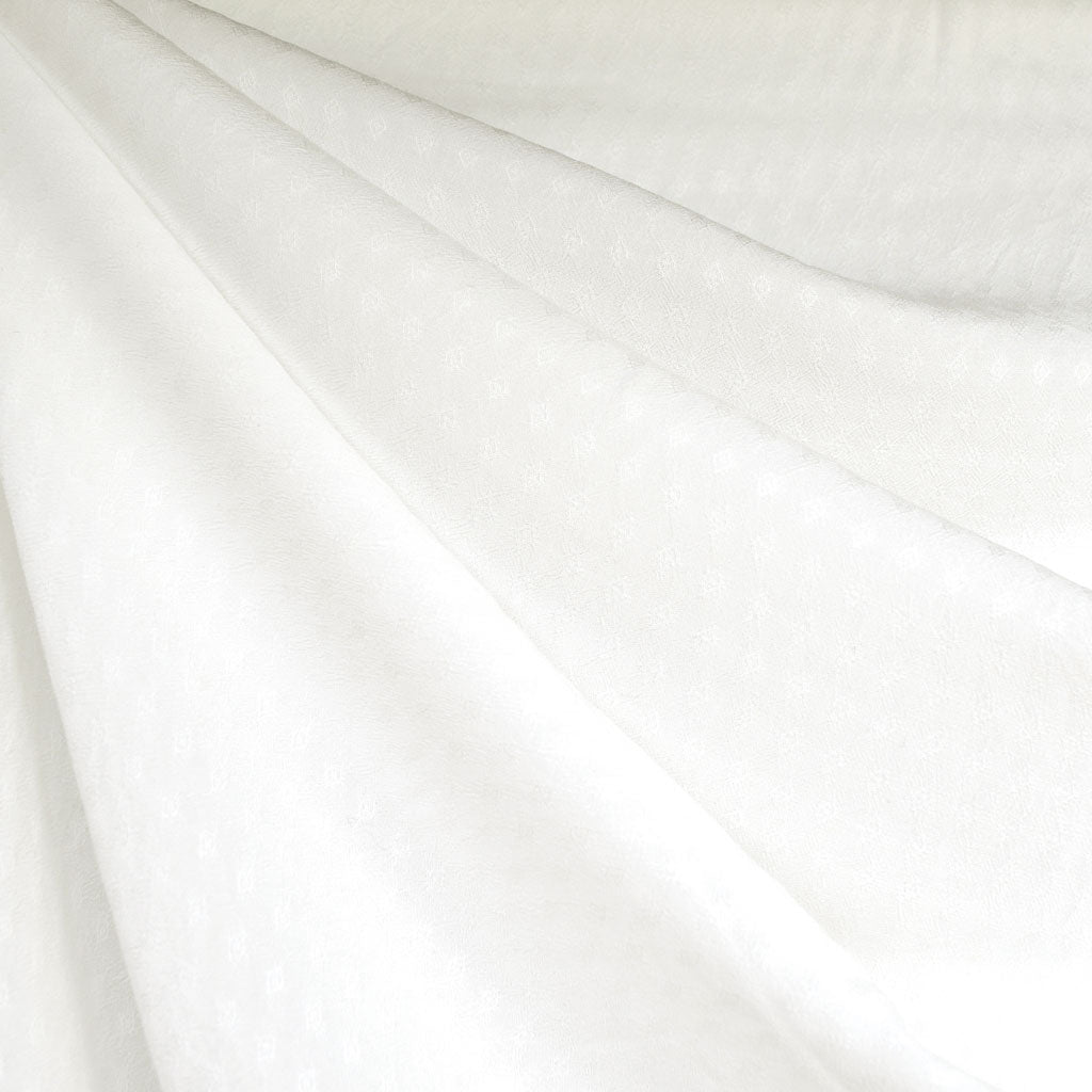 Diamond Texture Rayon Shirting Winter White - Fabric - Style Maker Fabrics