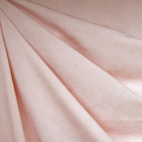 Linen Blend Textured Solid Shirting Blush