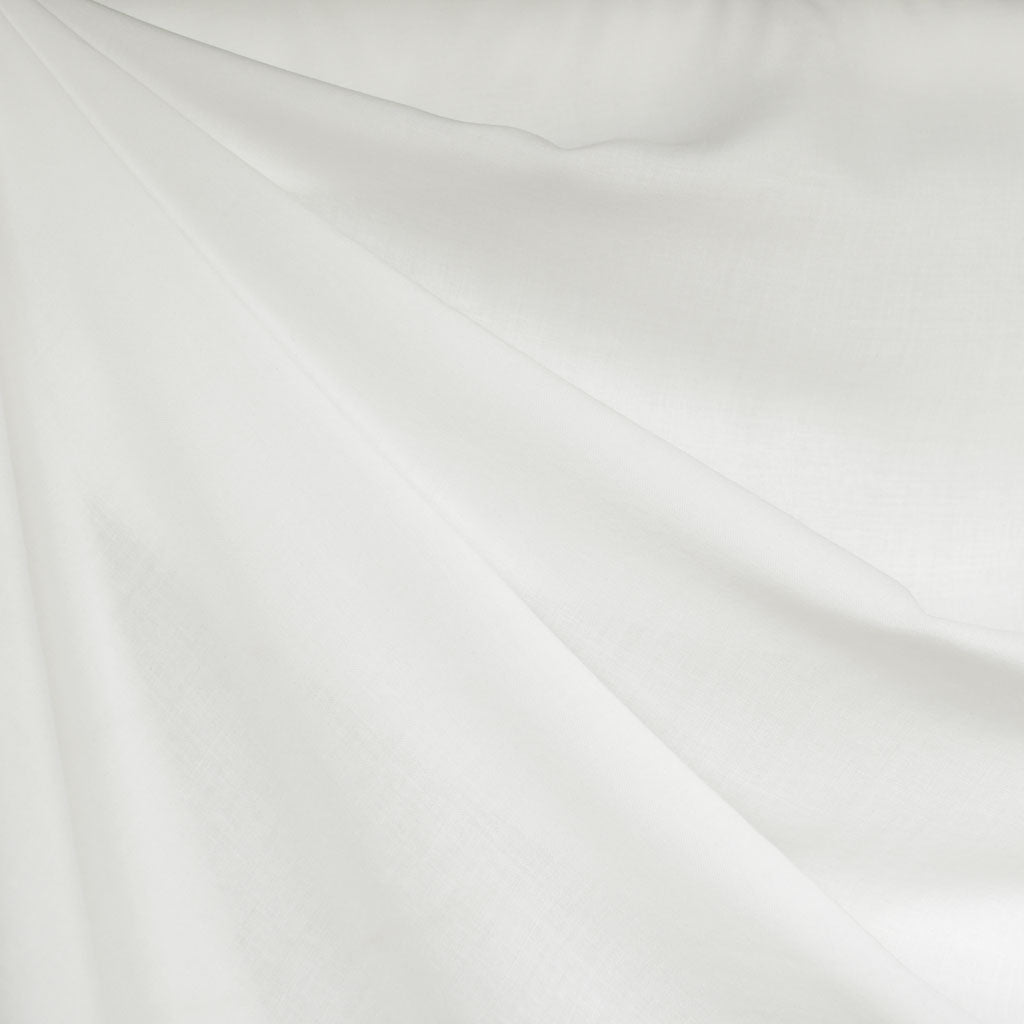 Rayon Batiste Solid Winter White - Fabric - Style Maker Fabrics