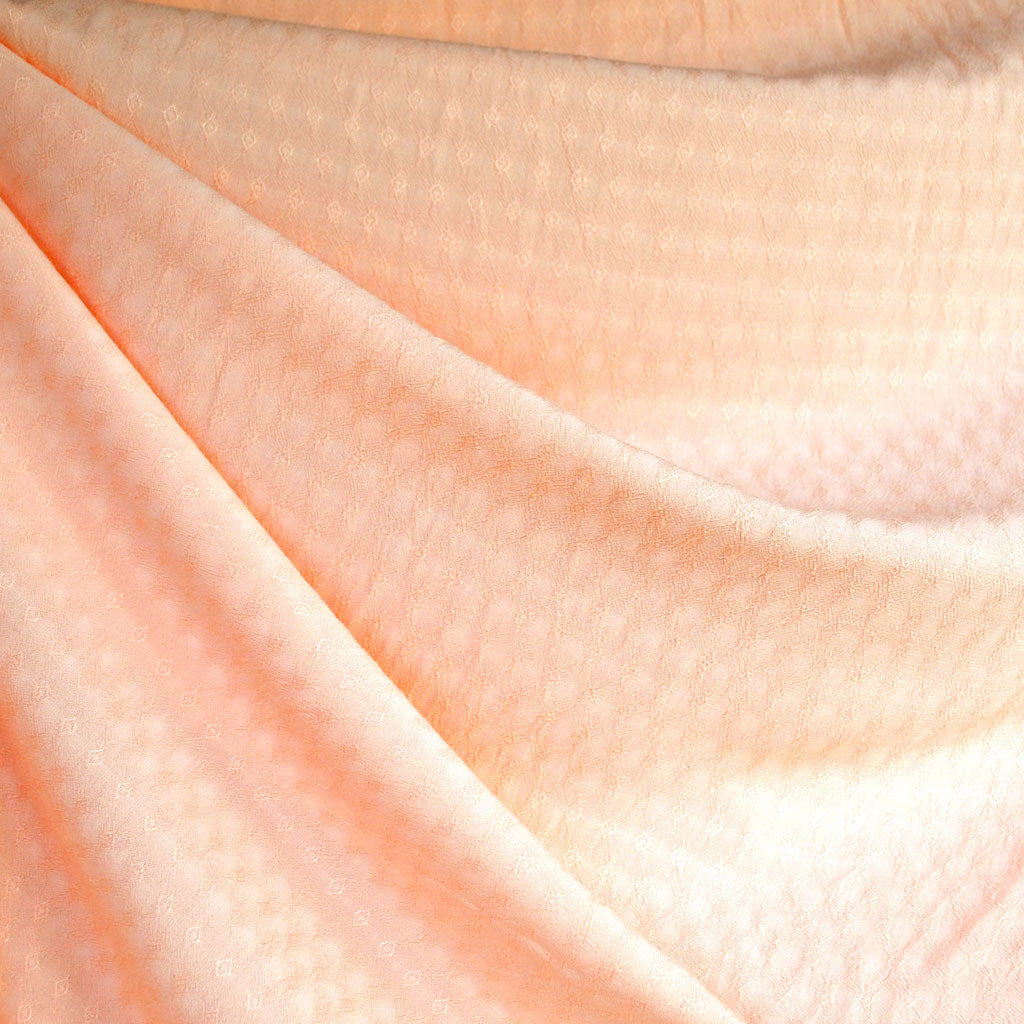 Diamond Texture Rayon Shirting Peach - Fabric - Style Maker Fabrics
