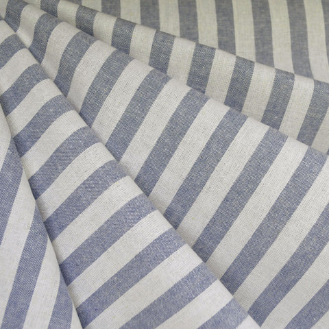 Essex Yarn Dyed Linen Blend Stripe Chambray