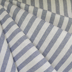 Essex Yarn Dyed Linen Blend Stripe Chambray - Fabric - Style Maker Fabrics