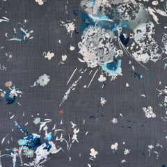 Japanese Nani Iro Floral Encounter Linen Charcoal SY - Sold Out - Style Maker Fabrics