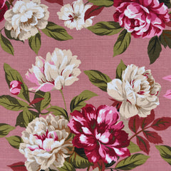 Outback Floral Cotton Barkcloth Rose - Fabric - Style Maker Fabrics