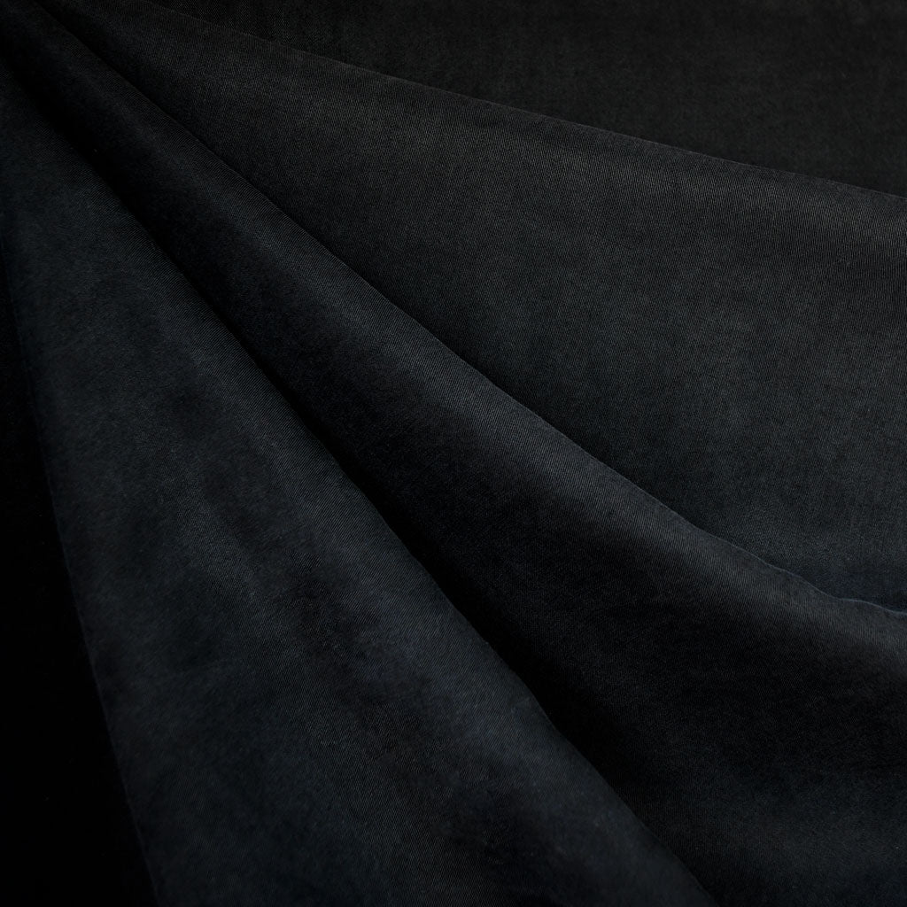 Tencel Twill Shirting Solid Black - Sold Out - Style Maker Fabrics