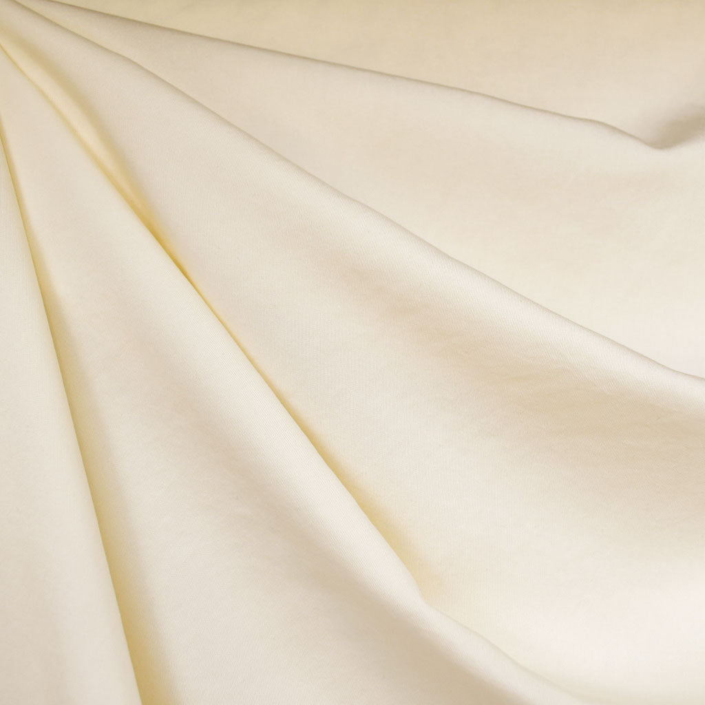 Tencel Twill Shirting Solid Cream - Fabric - Style Maker Fabrics