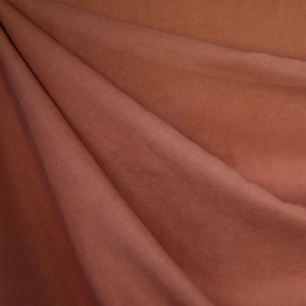 Tencel Twill Shirting Solid Terracotta - Fabric - Style Maker Fabrics