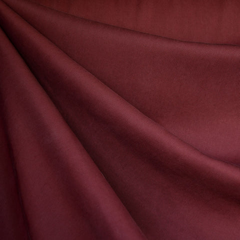 Tencel Twill Solid Bottom Weight Burgundy