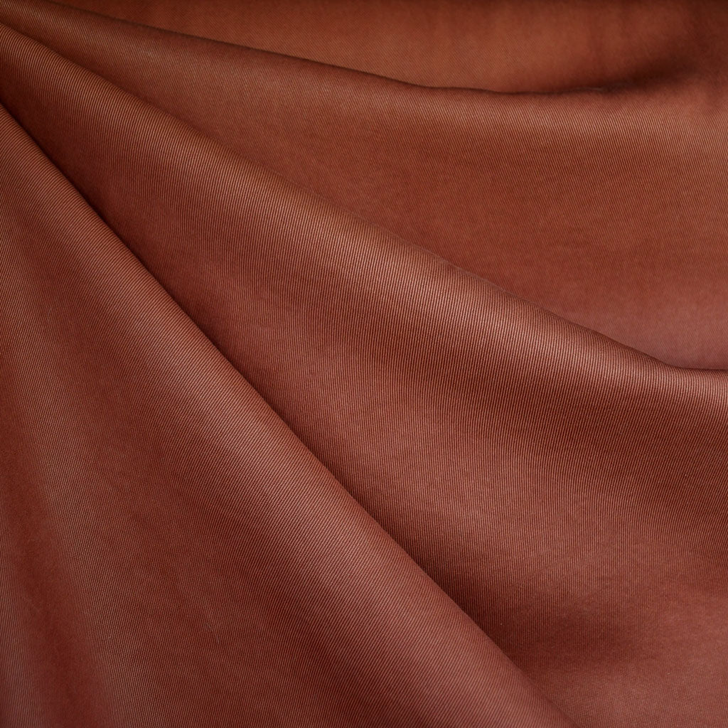 Tencel Twill Solid Bottom Weight Rust - Fabric - Style Maker Fabrics