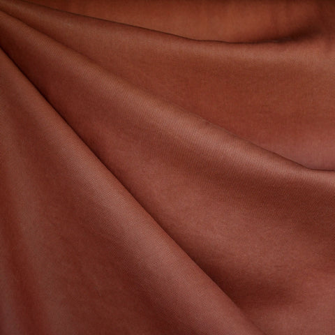 Tencel Twill Solid Bottom Weight Rust