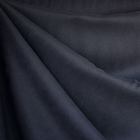 Tencel Twill Solid Bottom Weight Navy—Preorder