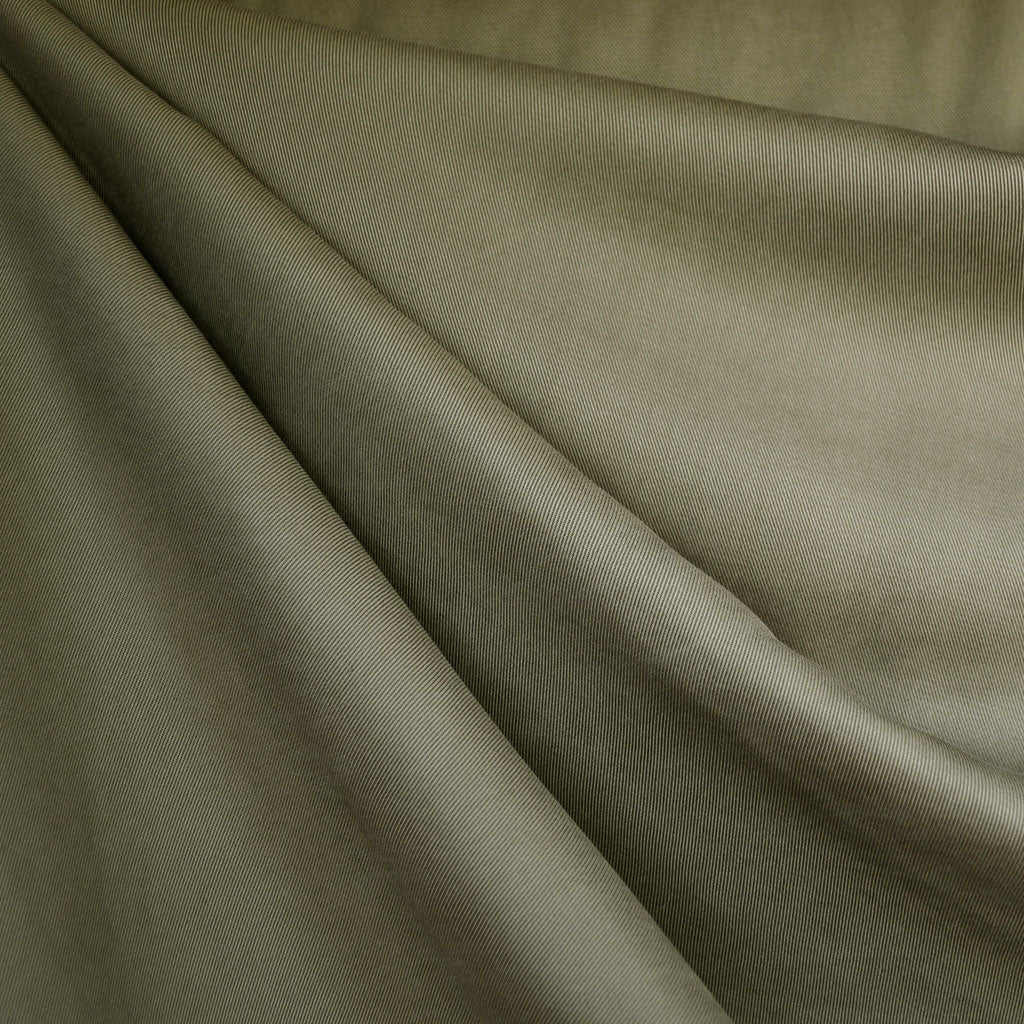 Tencel Twill Solid Bottom Weight Olive SY - Sold Out - Style Maker Fabrics