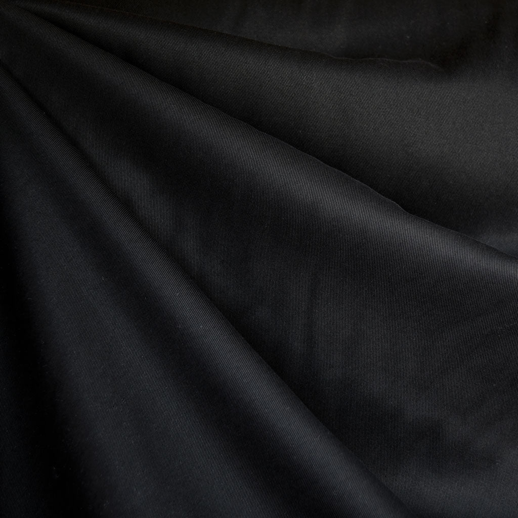 Tencel Twill Solid Bottom Weight Black - Fabric - Style Maker Fabrics