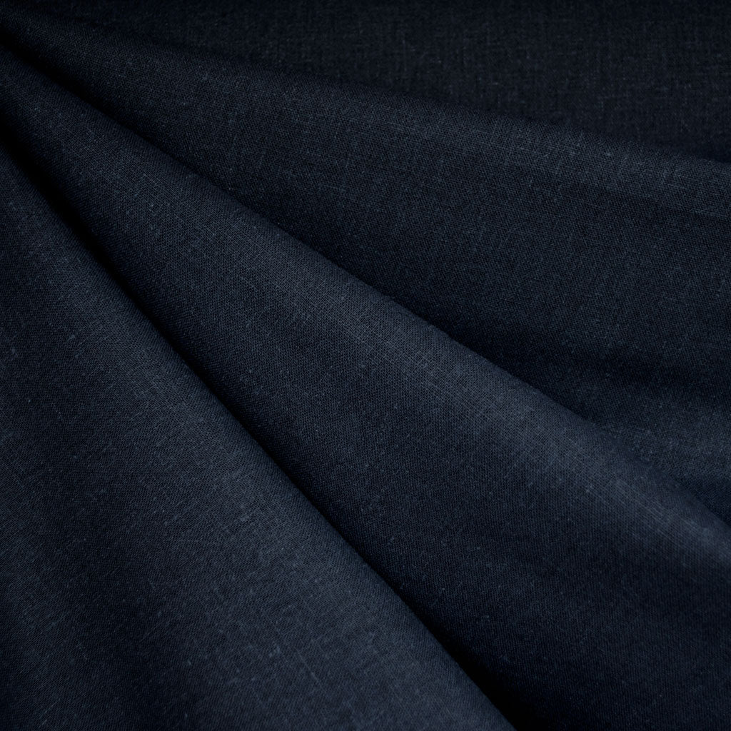 Brussels Washer Linen Blend Solid Navy - Fabric - Style Maker Fabrics
