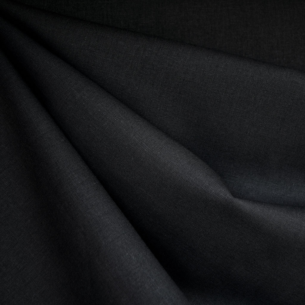 Brussels Washer Linen Blend Solid Black - Fabric - Style Maker Fabrics