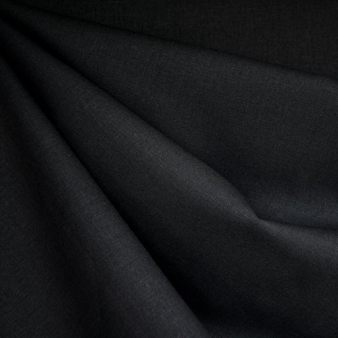 Brussels Washer Linen Blend Solid Black