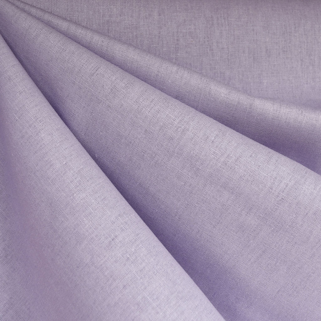 Brussels Washer Linen Blend Solid Lilac - Fabric - Style Maker Fabrics