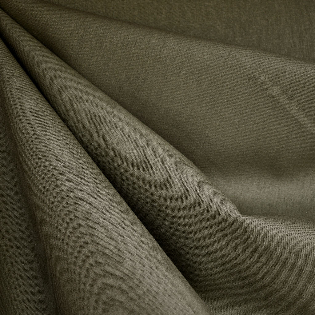 Brussels Washer Linen Blend Solid Olive - Fabric - Style Maker Fabrics