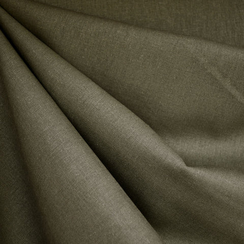 Brussels Washer Linen Blend Solid Olive