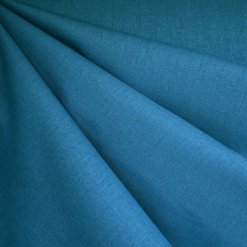 Brussels Washer Linen Blend Solid Ocean - Fabric - Style Maker Fabrics