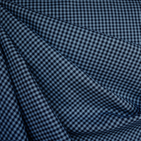 Micro Carolina Gingham Shirting Navy/Indigo
