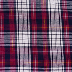 Soft Rayon Plaid Shirting Burgundy/Navy - Sold Out - Style Maker Fabrics