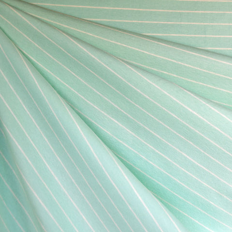 Solid Stripe Jersey Knit Sea Glass SY
