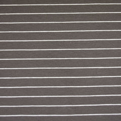 Solid Stripe Jersey Knit Charcoal - Fabric - Style Maker Fabrics