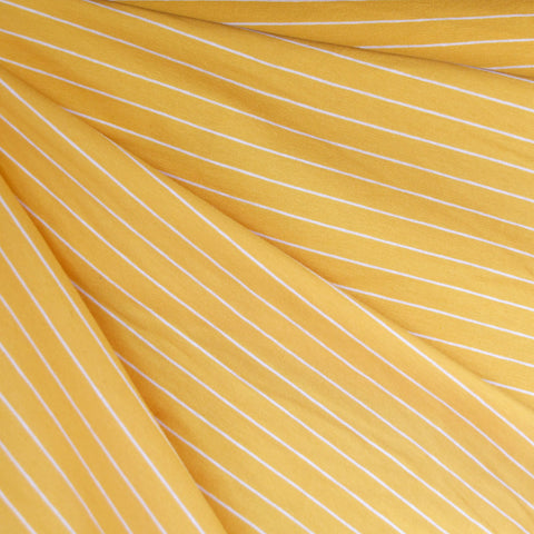 Solid Stripe Jersey Knit Lemon